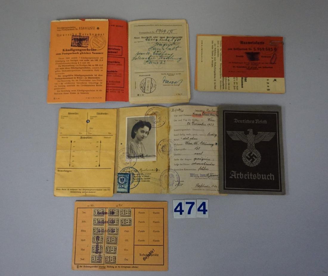 WW II GERMAN GROUP OF ID CARDS - 2