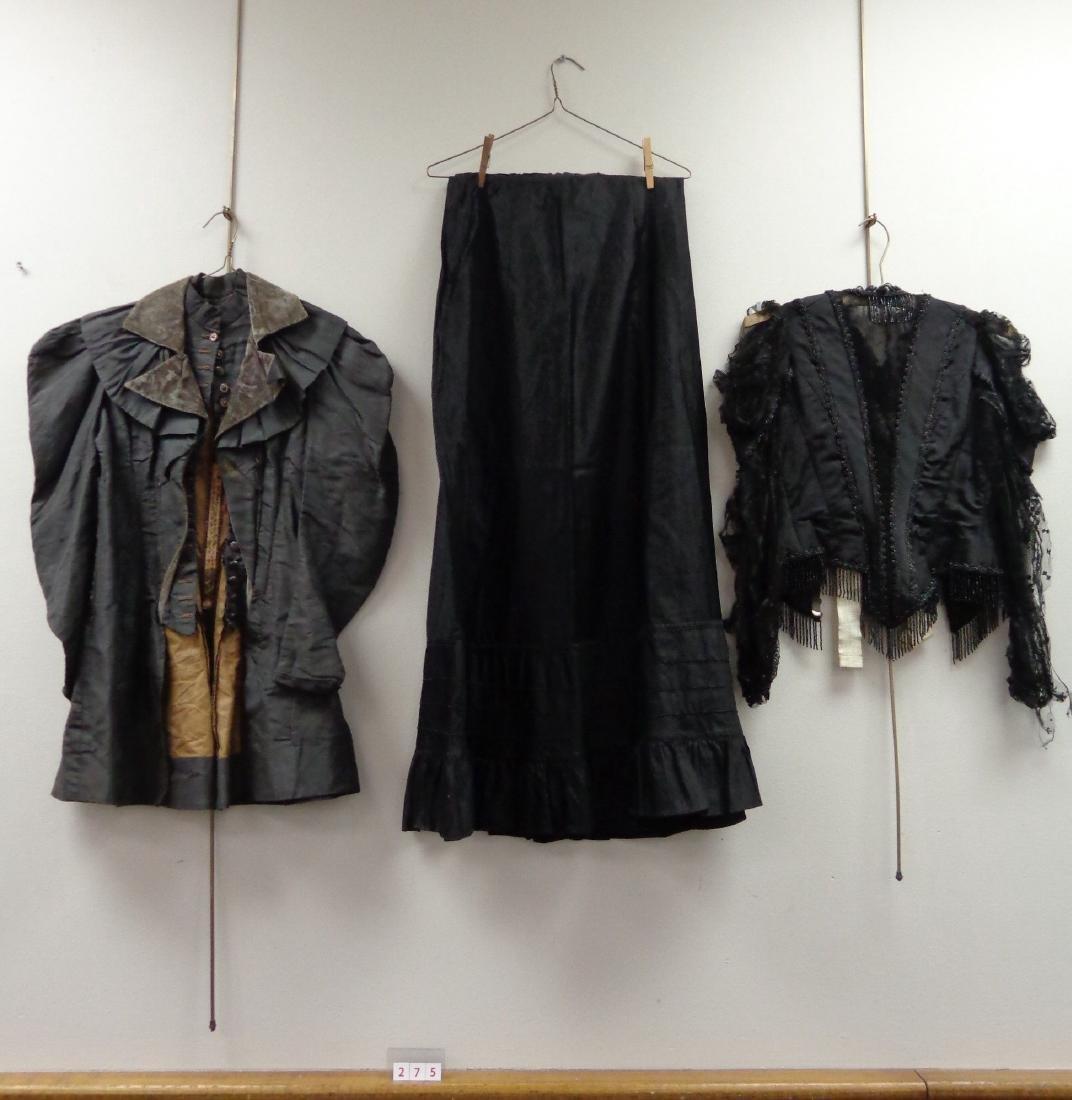 LOT OF LADIES BLACK VICTORIAN CLOTHING