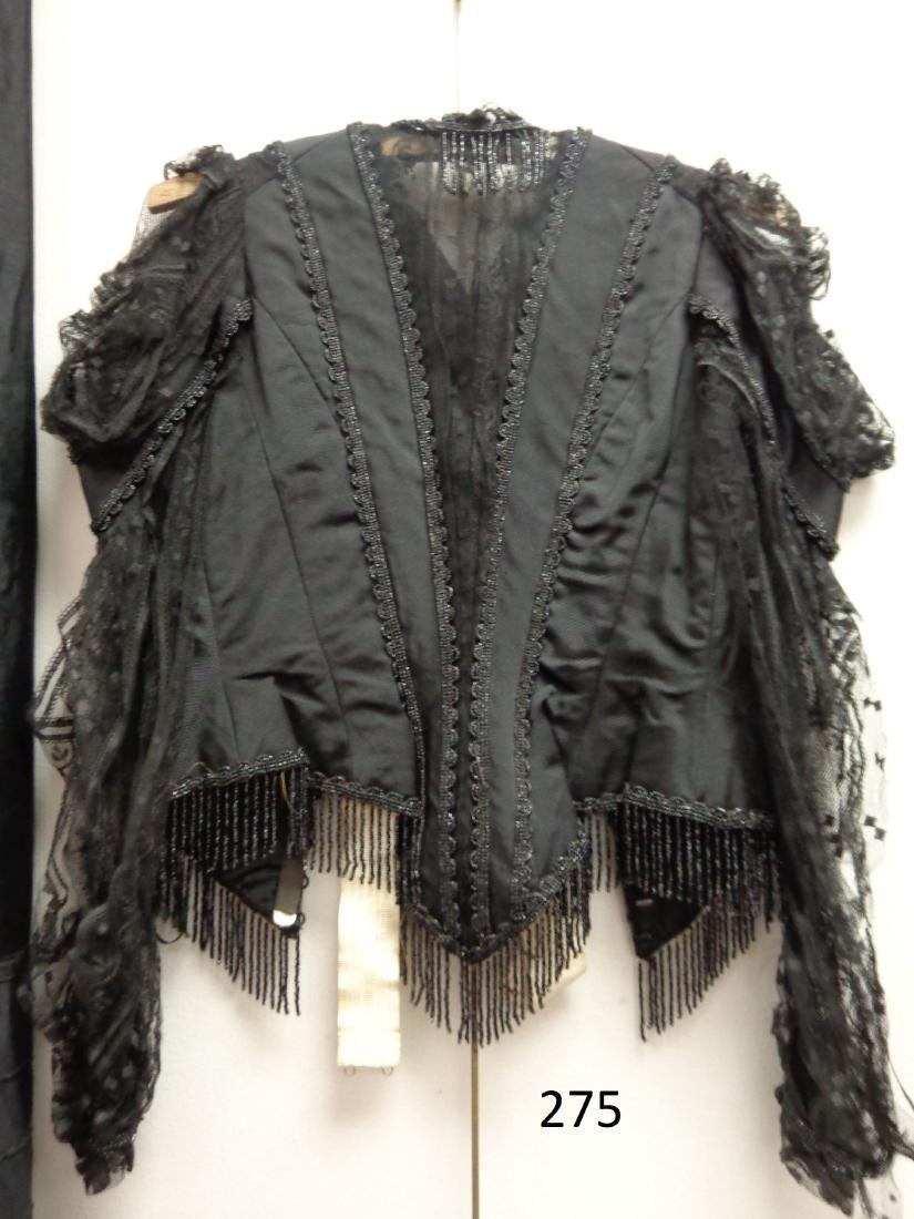 LOT OF LADIES BLACK VICTORIAN CLOTHING - 2