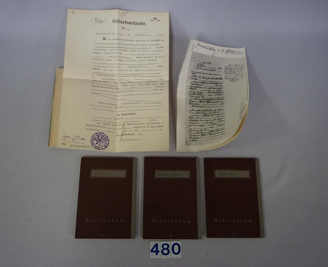 GROUP OF (3) WORK PASSES & PASSPORT - 2