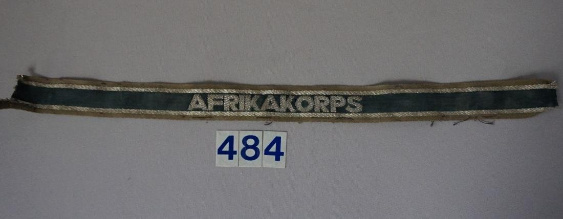 WW II GERMAN AKRIKA CORPS CUFF TITLE -