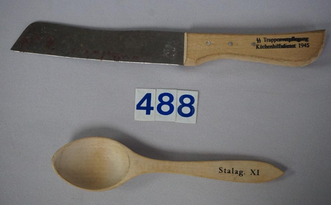 WOODEN SPOON FROM STALAG II -