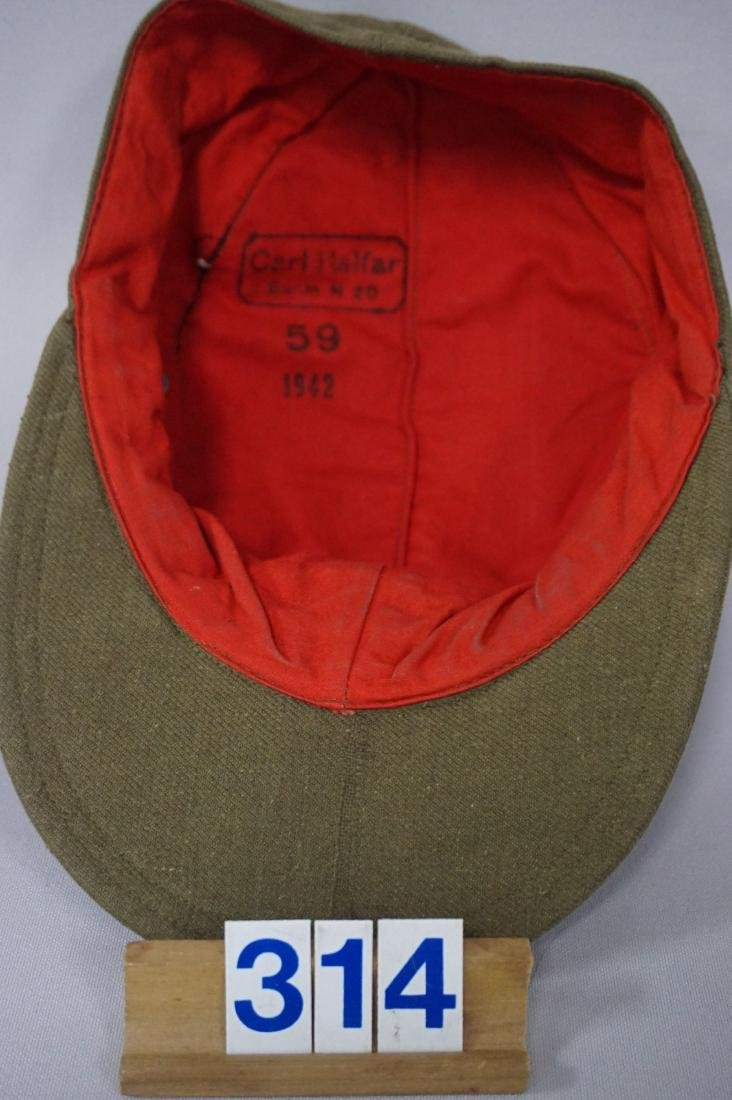 AFRICA KORPS M43 CARL HALFAR HAT, - 4