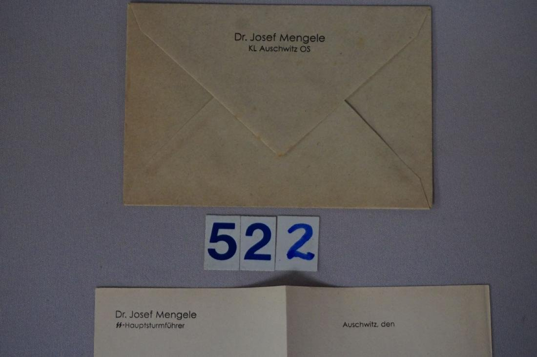 LETTERHEAD MARKED DR. JOSEF MENGELE - 2