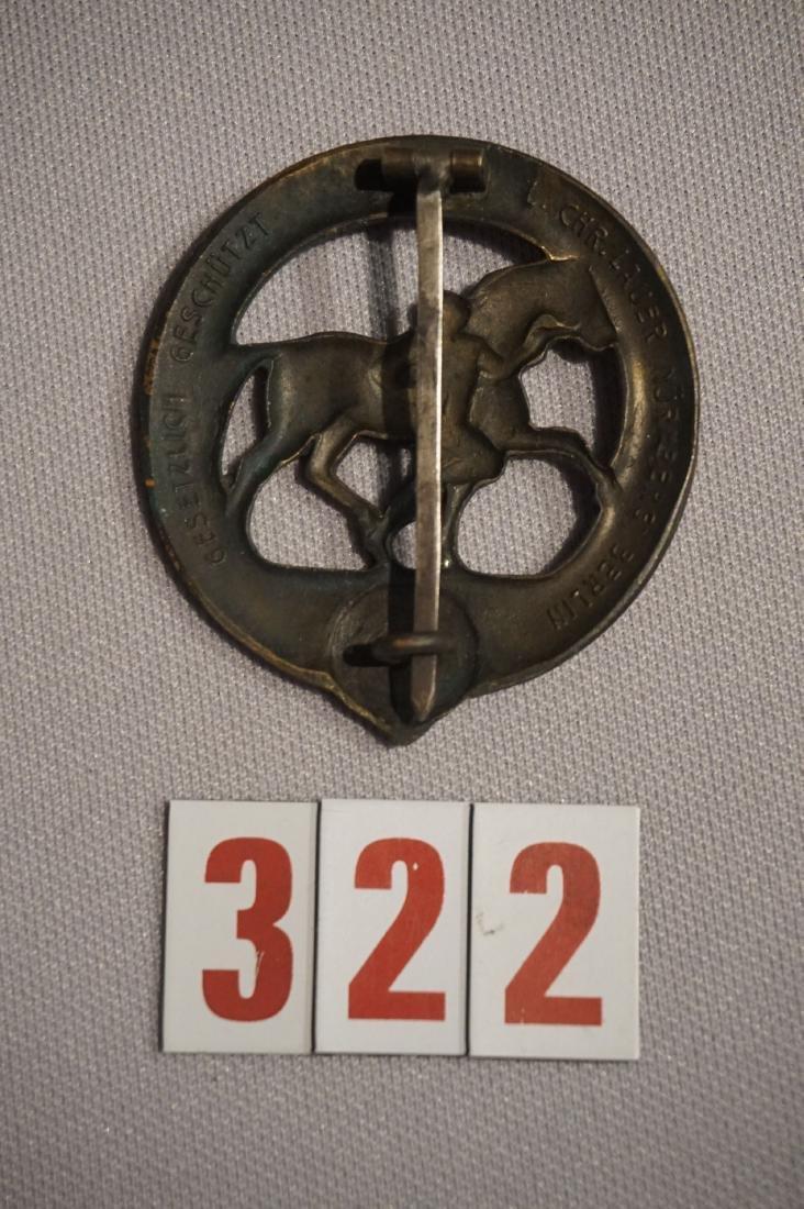 HORSE TRAINER'S BRONZE BADGE, - 2