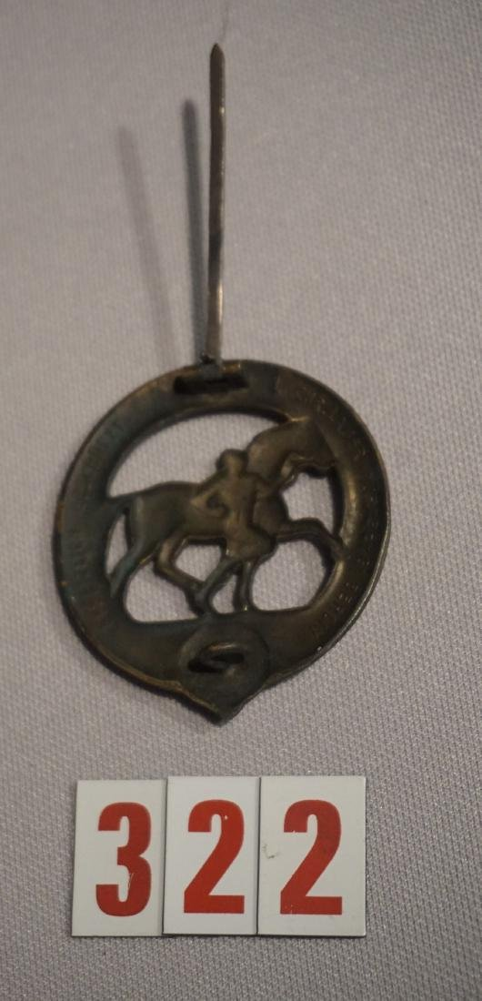 HORSE TRAINER'S BRONZE BADGE, - 3