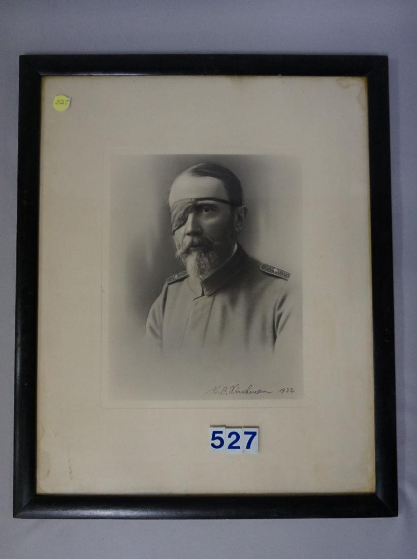 FRAMED PORTRAIT OF AN OFFICER WITH