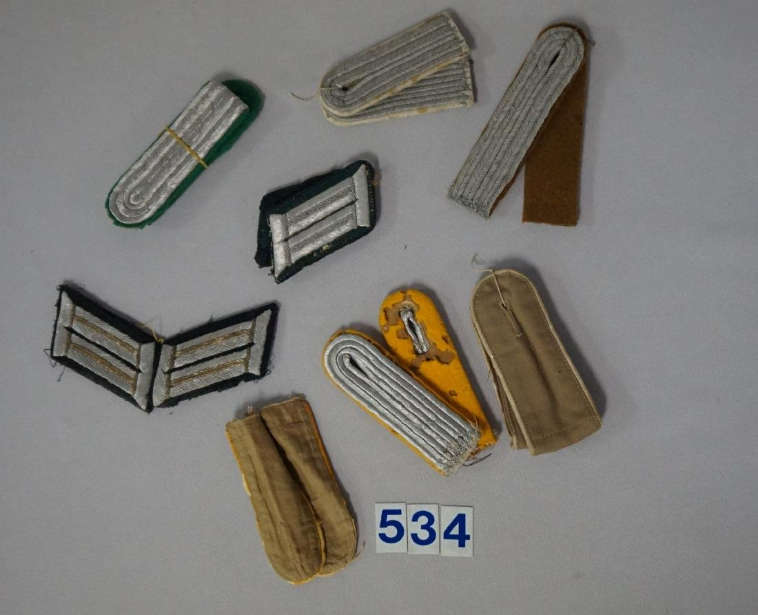 GROUP OF WEHRMACHT SHOULDER BOARDS