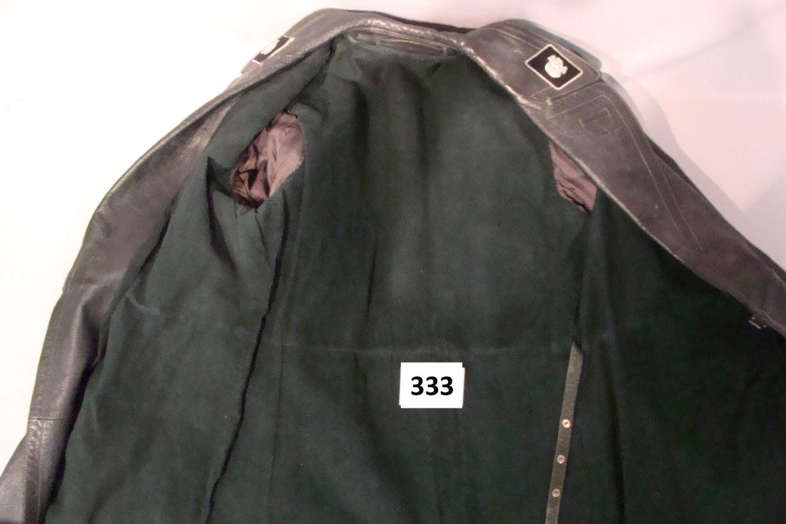 WW II WAFFEN SS LEATHER COAT - 5