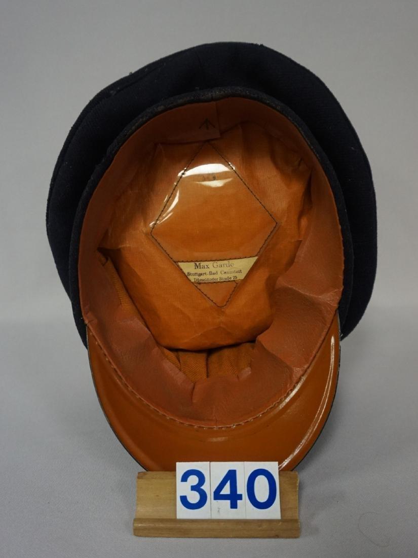 WW II RED RLB VISOR HAT, EARLY, LOW RANK - 4