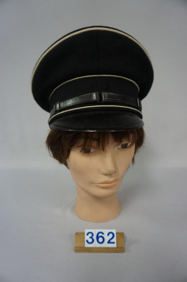 BLACK GABARDINE WOOL EM VISOR HAT,