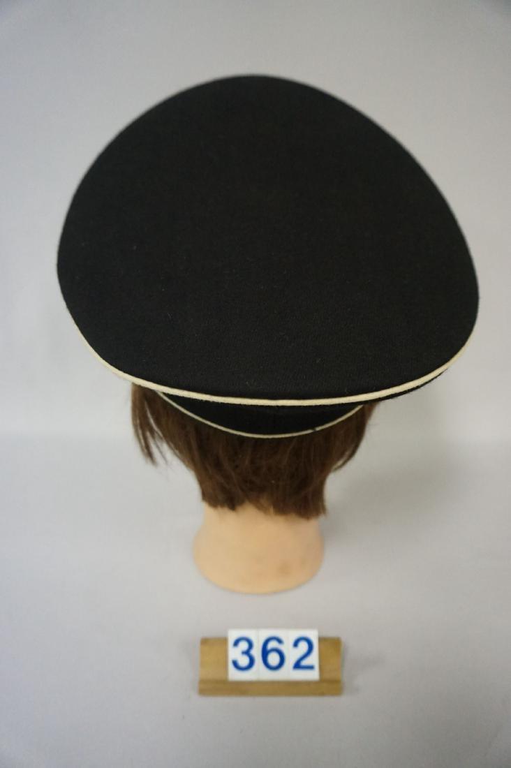 BLACK GABARDINE WOOL EM VISOR HAT, - 4