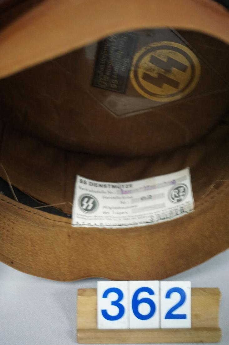 BLACK GABARDINE WOOL EM VISOR HAT, - 7