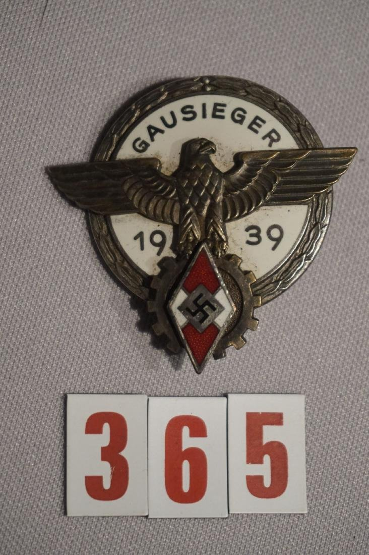 GAUSIEGER BADGE, SILVER FINISH