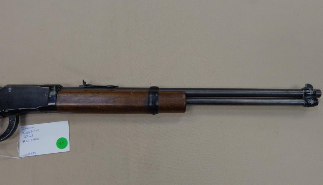 ITHACA MODEL-49 SINGLE SHOT 22 CAL. RIFLE - 3