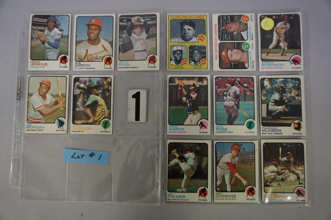 (280+ DIFF.) 1973 TOPPS BASEBALL CARDS