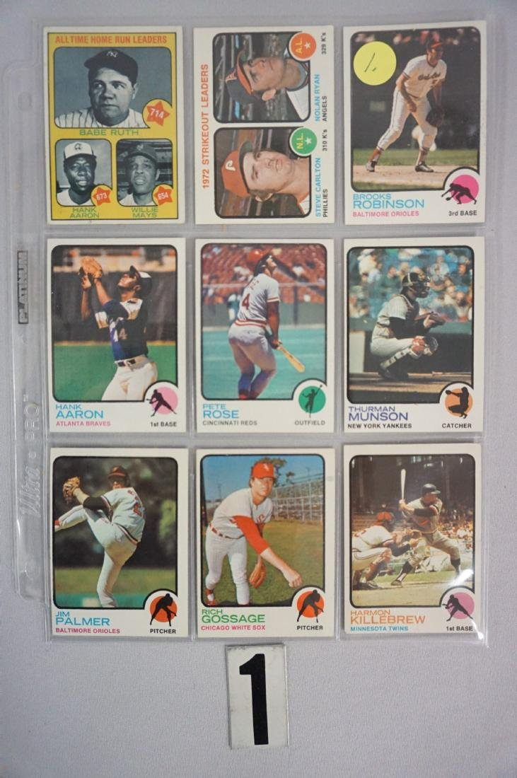 (280+ DIFF.) 1973 TOPPS BASEBALL CARDS - 4