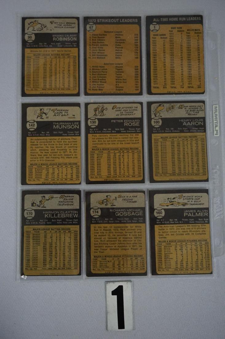 (280+ DIFF.) 1973 TOPPS BASEBALL CARDS - 5