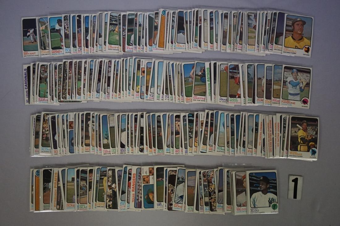 (280+ DIFF.) 1973 TOPPS BASEBALL CARDS - 6