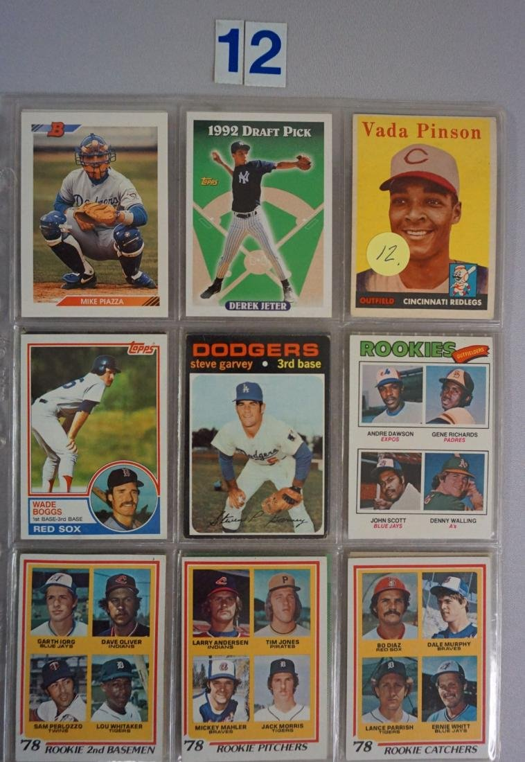(27) BASEBALL ROOKIE CARDS IN SHEETS