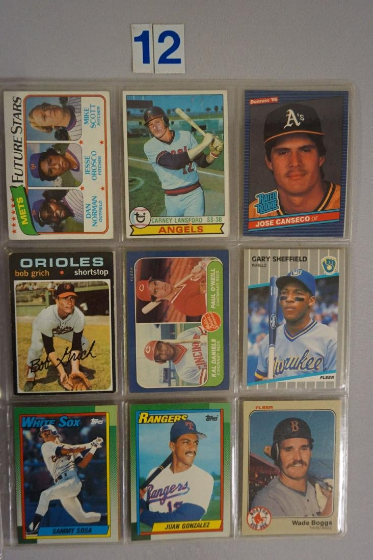 (27) BASEBALL ROOKIE CARDS IN SHEETS - 2