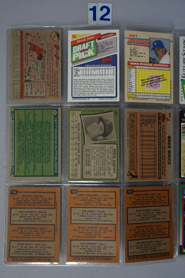 (27) BASEBALL ROOKIE CARDS IN SHEETS - 4
