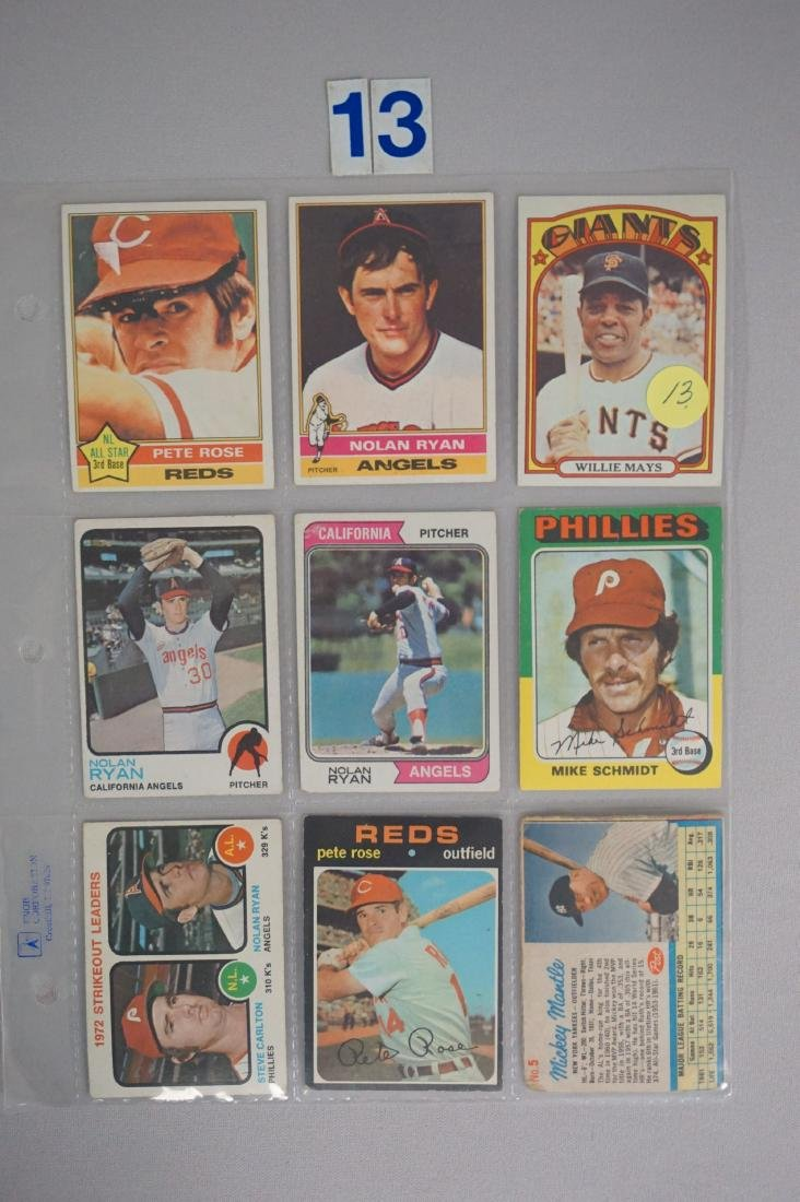 SHEET OF (9) BASEBALL STARS