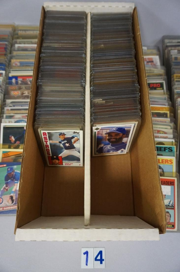 TWO-ROW BOX OF SPORTS CARDS - 2