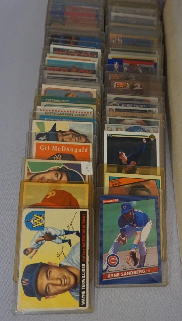TWO-ROW BOX OF SPORTS CARDS - 3