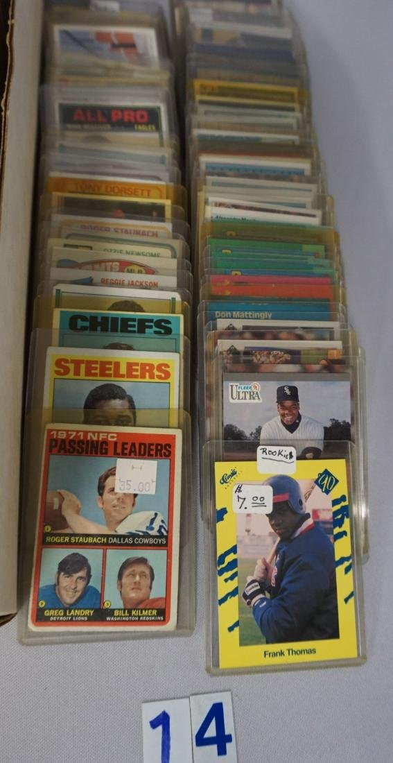 TWO-ROW BOX OF SPORTS CARDS - 5