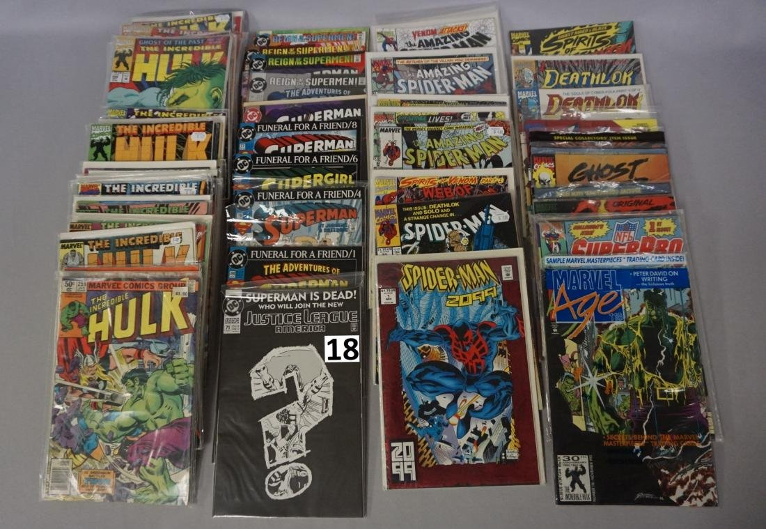 COMIC BOOK LOT: (37) THE HULK, (15) SUPERMAN,