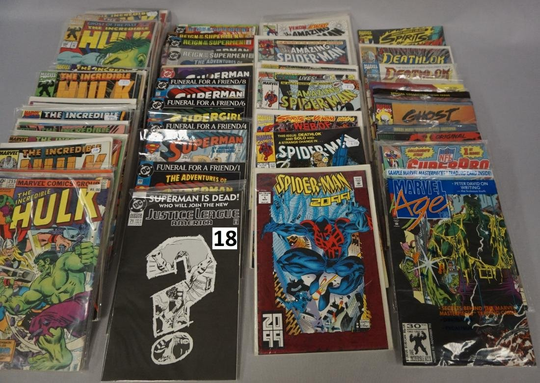 COMIC BOOK LOT: (37) THE HULK, (15) SUPERMAN, - 3
