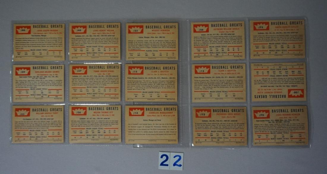 (9 DIFF.) 1952 TOPPS BASEBALL CARDS - 5