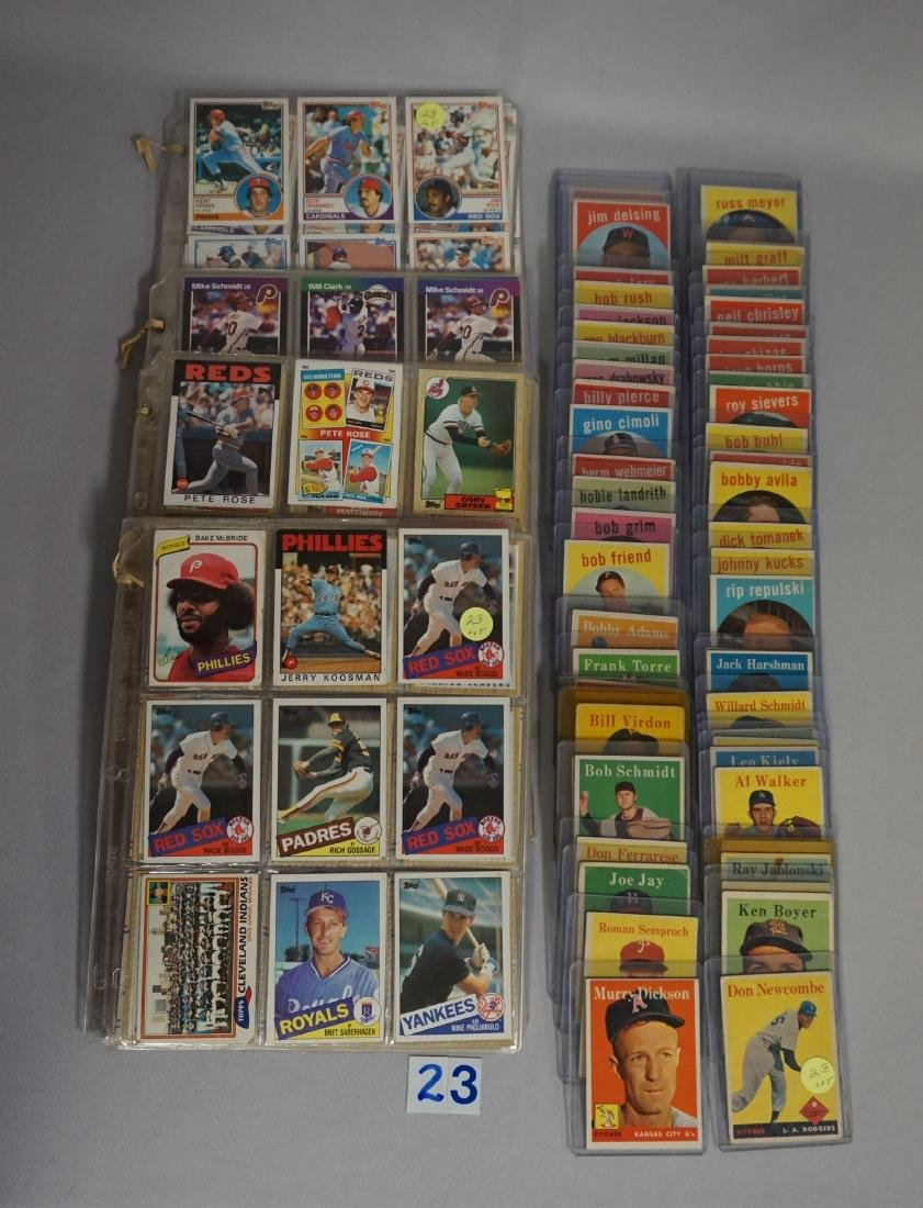 LOT: (25 DIFF.) 1958 & (36 DIFF.) 1959 TOPPS