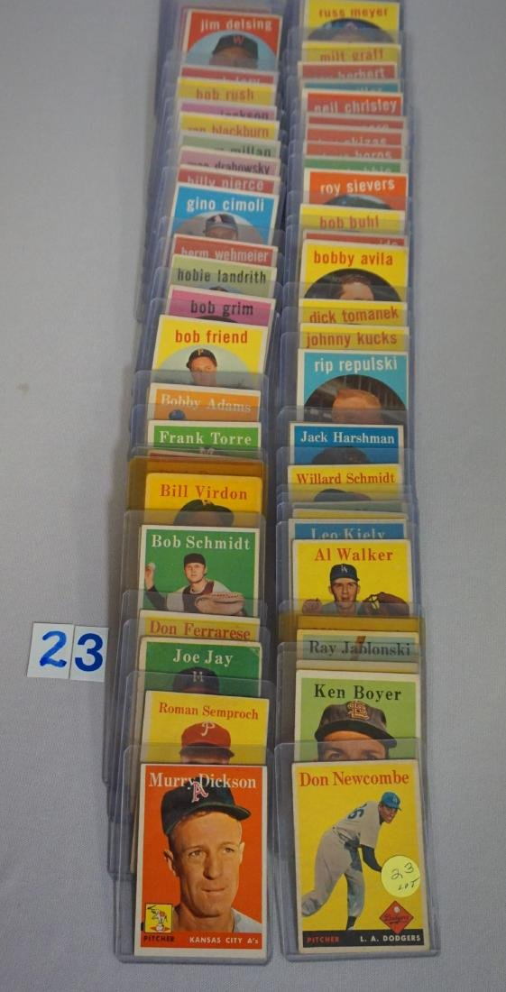 LOT: (25 DIFF.) 1958 & (36 DIFF.) 1959 TOPPS - 3