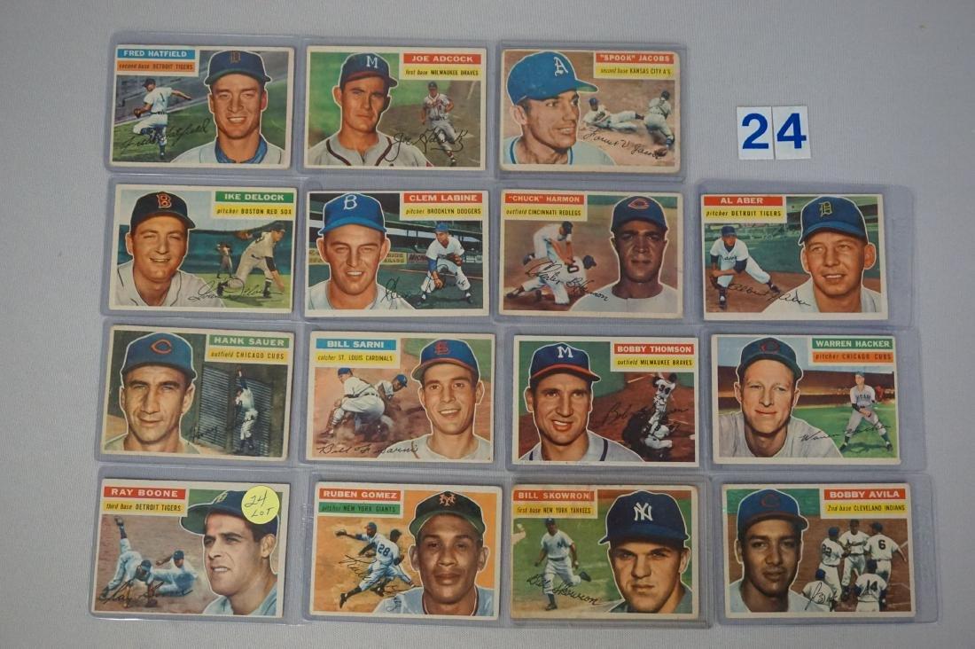 (15 DIFF.) 1956 TOPPS BASEBALL CARDS