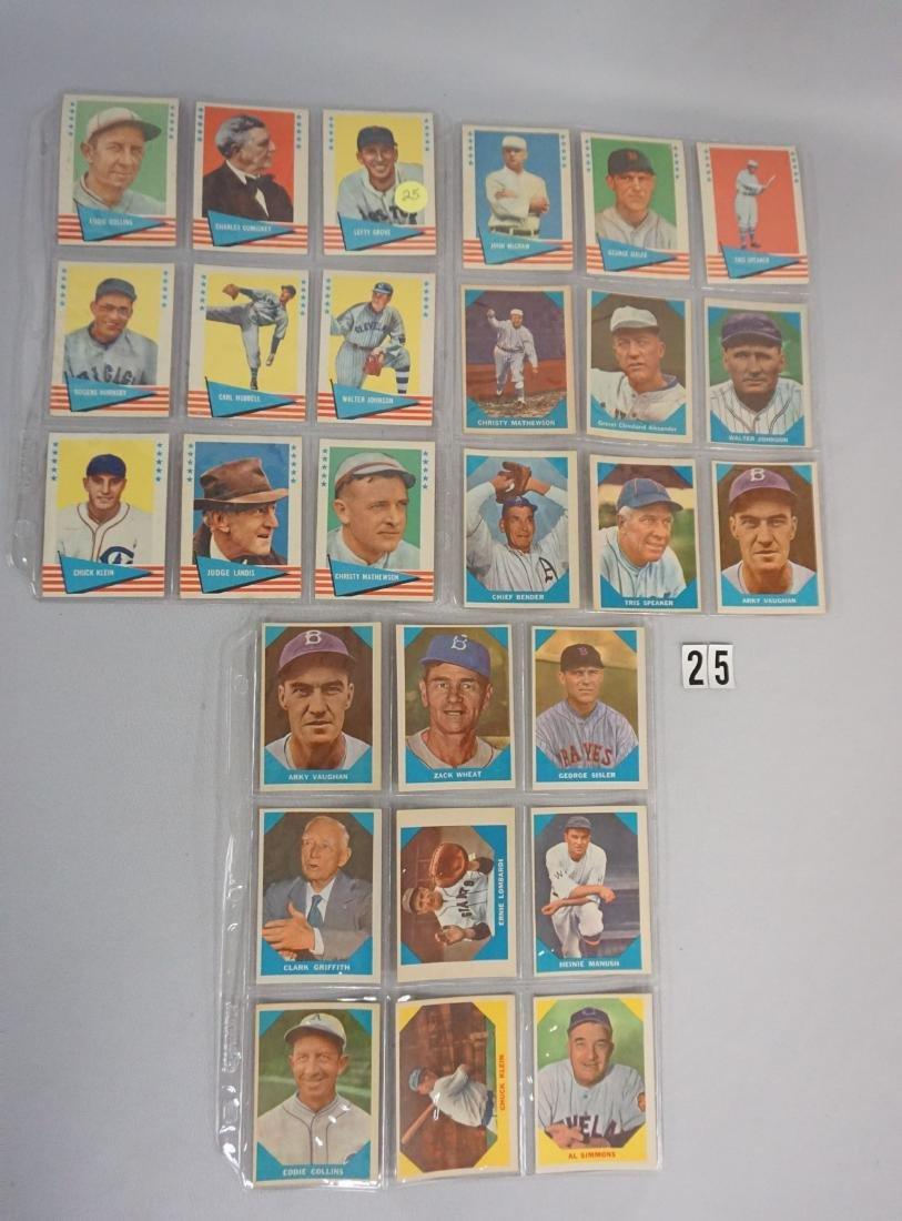 (30) 1960 FLEER BASEBALL GREATS