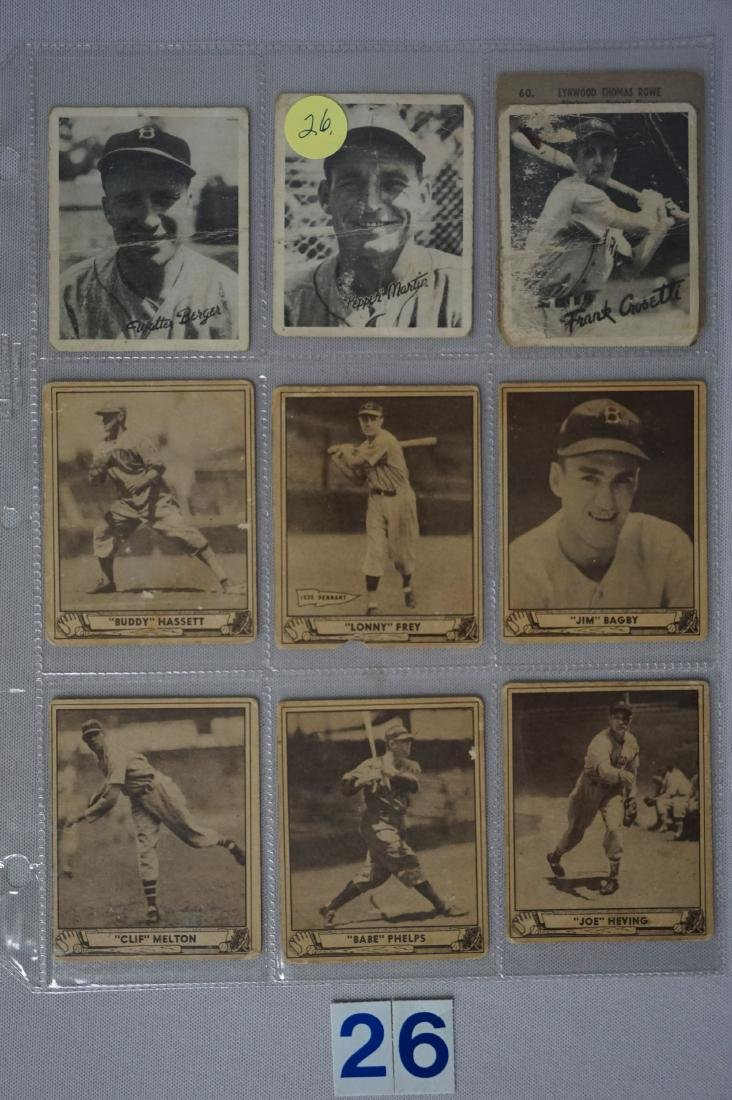 LOT: (3) 1936 GOUDEY GAME CARDS - POOR,