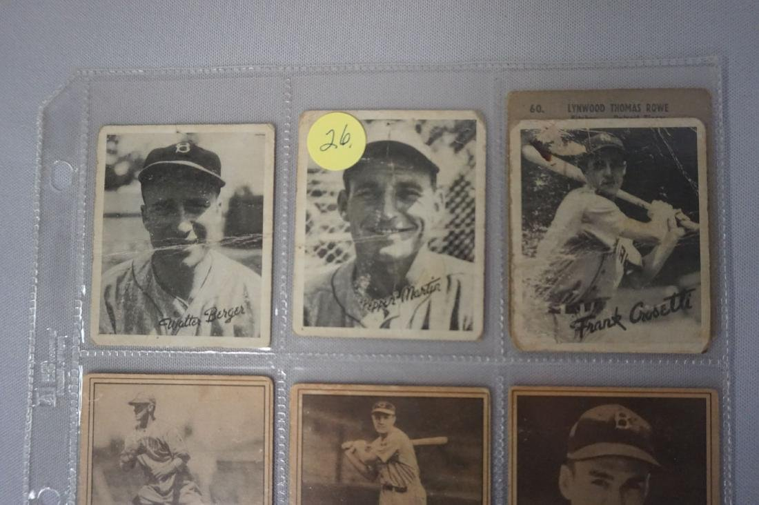 LOT: (3) 1936 GOUDEY GAME CARDS - POOR, - 2
