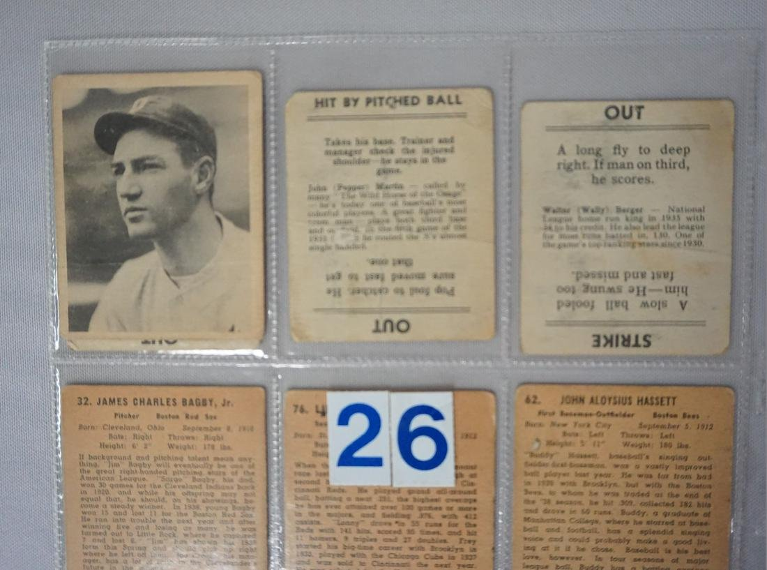 LOT: (3) 1936 GOUDEY GAME CARDS - POOR, - 4