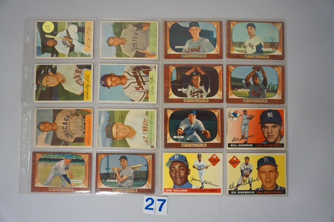 LOT: (6) 1954 BOWMAN INCLUDING #84 L. DOBY,