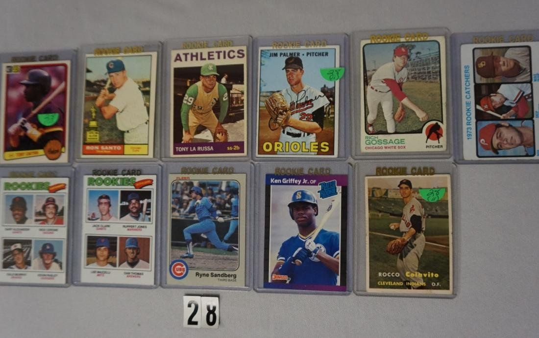 (11 DIFF.) BASEBALL ROOKIE CARDS