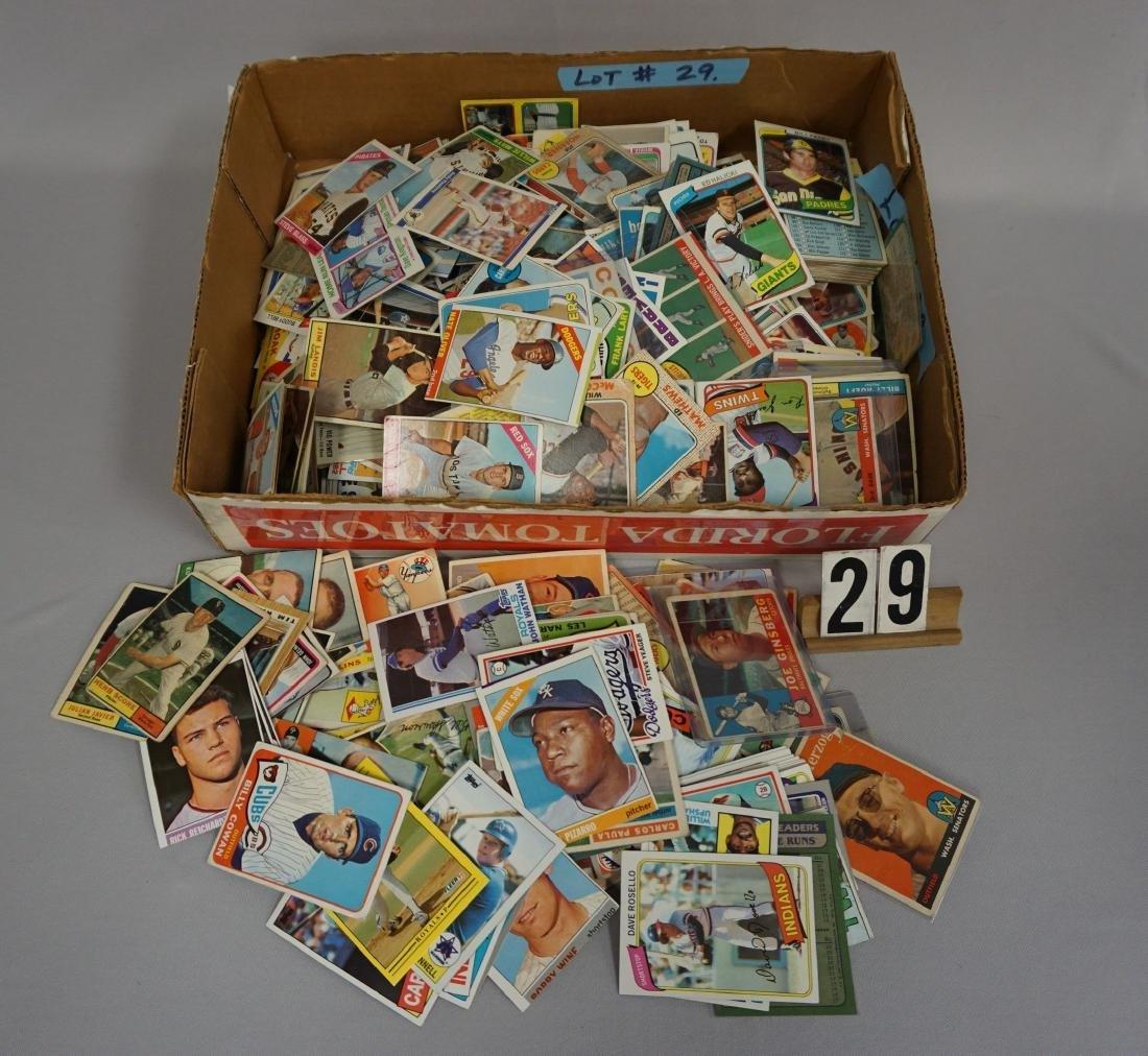 GRAB BOX OF BASEBALL CARDS