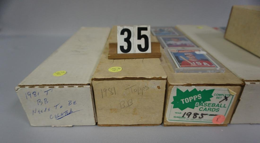TOPPS BASEBALL CARDS SETS: - 2
