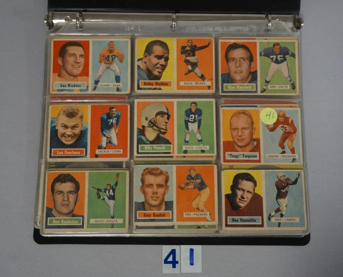 1957, '58, '60, '62 & '70 TOPPS FOOTBALL CARDS