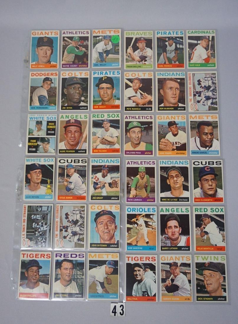 (63) 1964 TOPPS BASEBALL CARDS
