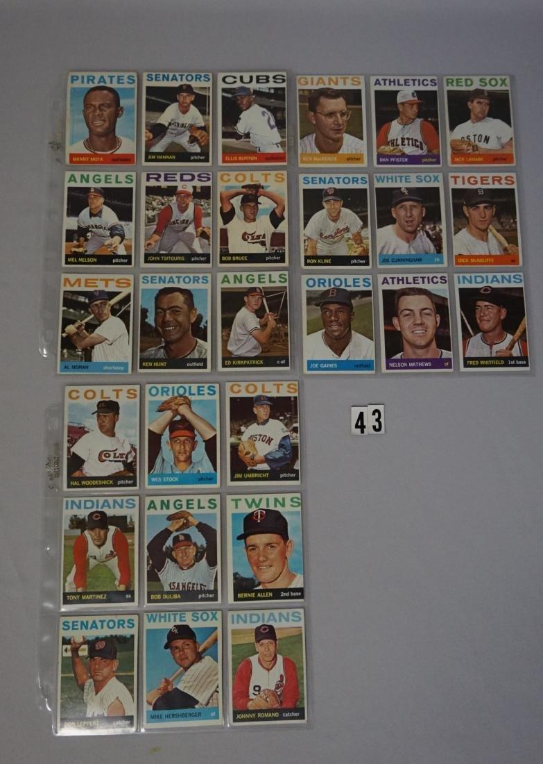 (63) 1964 TOPPS BASEBALL CARDS - 3
