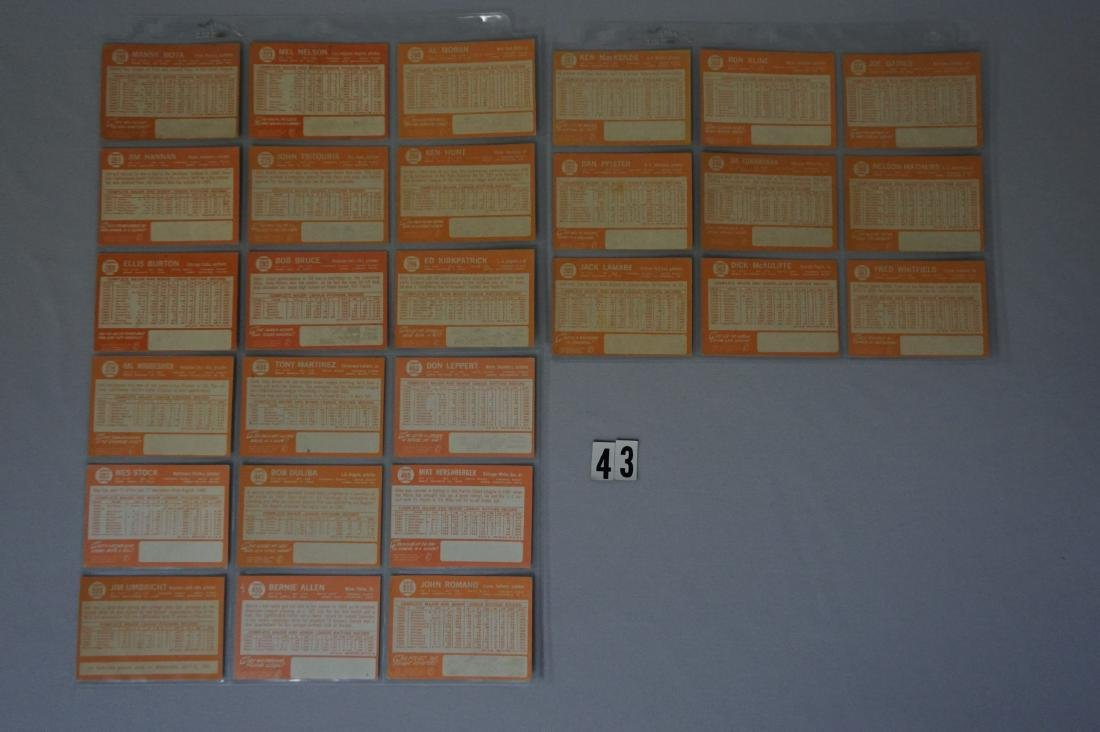 (63) 1964 TOPPS BASEBALL CARDS - 4