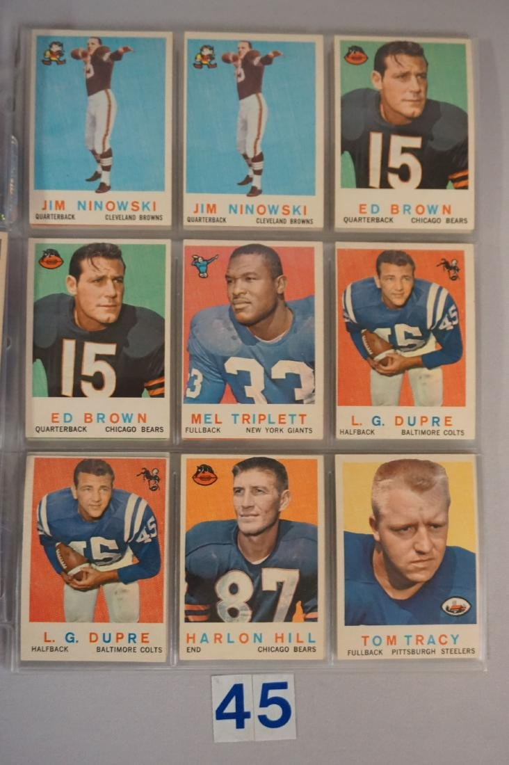 VINTAGE FOOTBALL CARD LOT: - 3