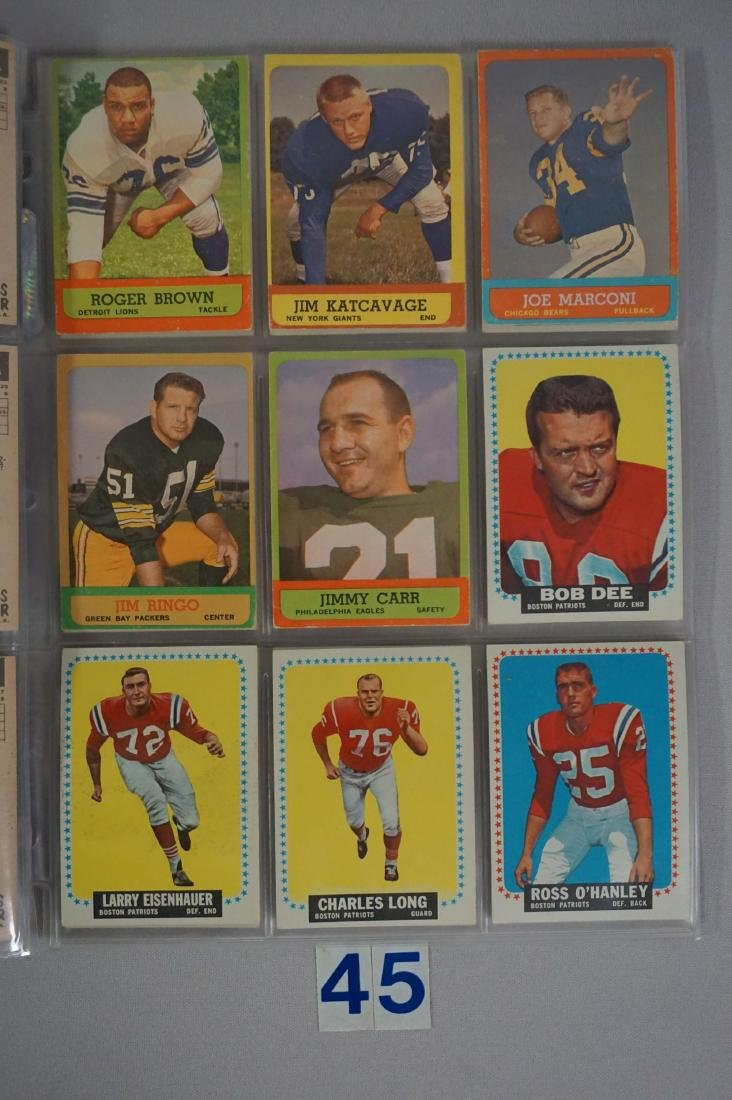 VINTAGE FOOTBALL CARD LOT: - 4